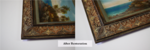 small inciso picture frame after restoration melbournes best frame restorers