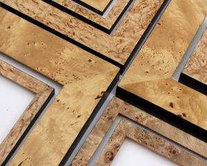 Rich and Davis Veneered Frames Huon Pine, Plane Tree, Pippy Oak