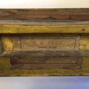 Rich and Davis antique frame label melbourne's best picture framer