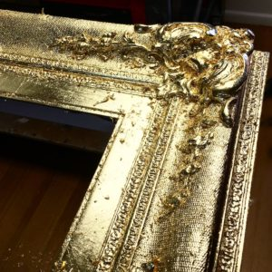 Rich and Davis custom frame gilded ornamental corner melbourne's best picture framer