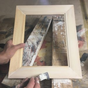 Picture frame gesso traditional application brush