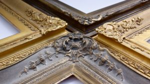 Rich & Davis McAlban and Sutton ornamental gold and dutch metal picture frames