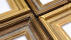 Rich and Davis custom frames gilded gold and dutch metal