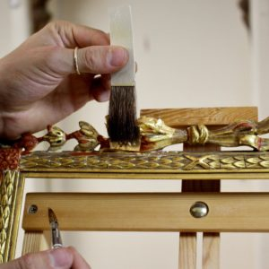 Rich and Davis Water-Gilding Gold Repair on Ribbon Ornamental Frame