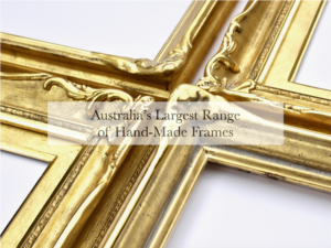 23K gold ornamental frames with composition corner ornaments and swept-runs