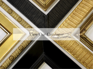 custom gold and clay bole ornamental and contemporary picture frames