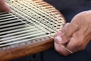 Furniture restoration caning
