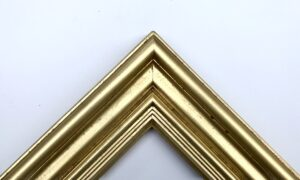Dutch metal gold Dutch style picture frame chunky