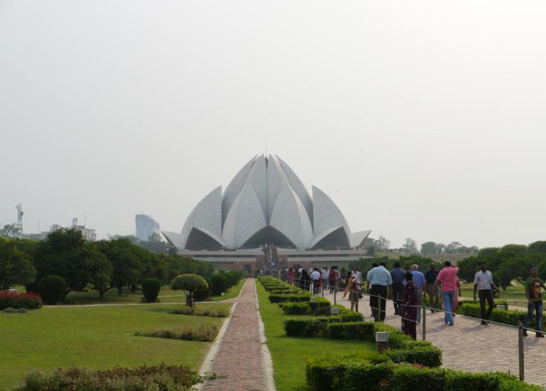 Días en Delhi conociendo, Lotus Temple Nueva Delhi