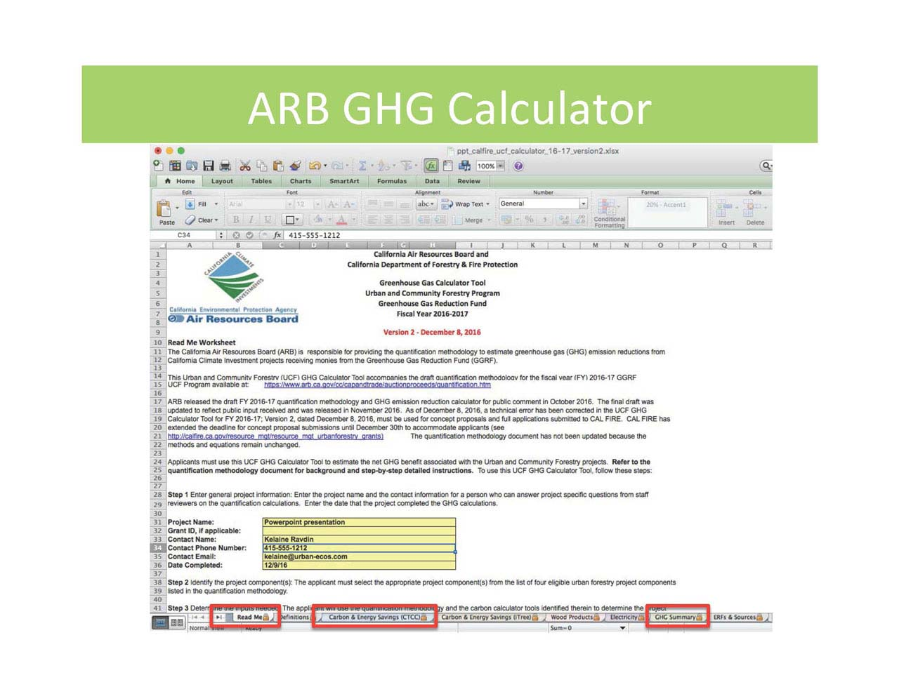 Tree Carbon Calculator   California Urban Forests Council