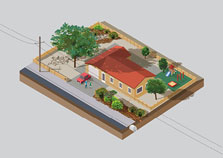 USE TREES & WATER WISELY (SINGLE FAMILY)