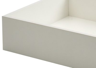 White Melamine Drawers