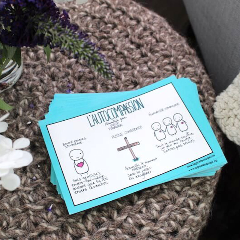 Cartons autocompassion outil formation