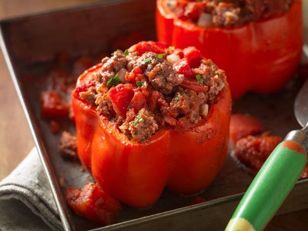 sloppy joe stuffed peppers