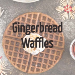 high protein gingerbread waffles