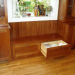 bench seat, bead board