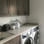 laundry room, mud room, gray stained