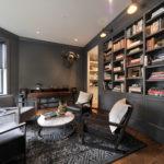 bookcase, dark gray, built-in