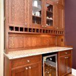 butler pantry, quarter sawn oak, inset, wine cubbies