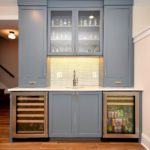 blue, hutch, butler's pantry, bar