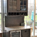 wine cubbies, hutch,