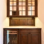mirror doors, bar, butler's pantry