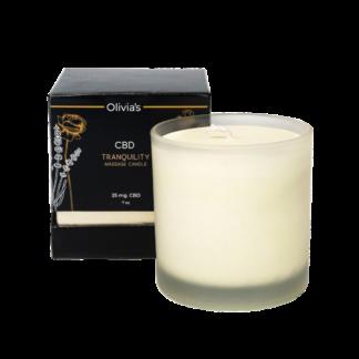 Olivia's 25 mg CBD Massage Candle