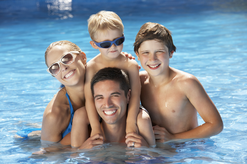 Swimming is a great pool exercise and a way to have family fun.
