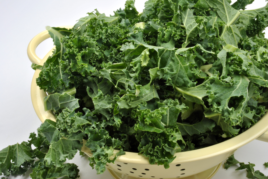 Organic kale is a great addition to healthy meal plans.