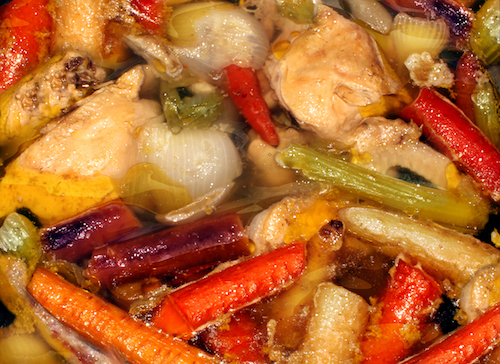 Crockpot Chicken With Peppers