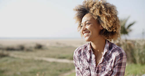 Young Smiling Woman Outdoors