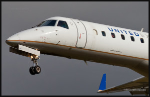 United Express en finale, à l'aéroport international Jean-Lesage de Québec