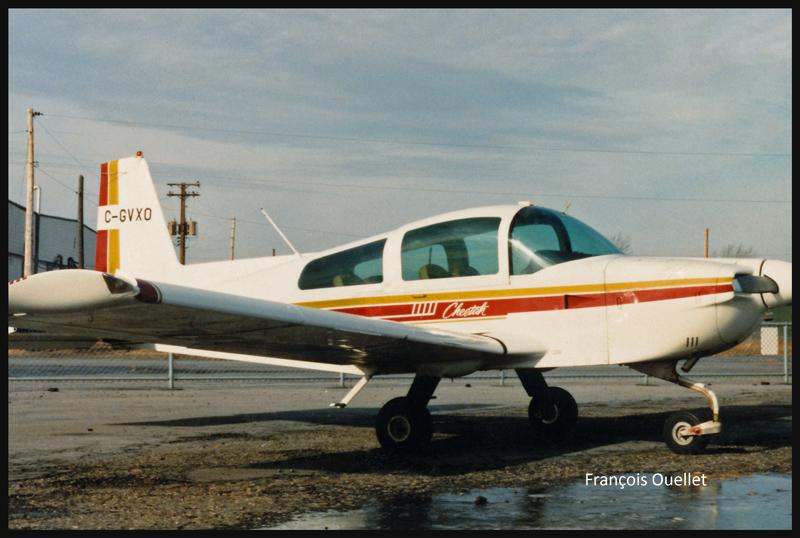 Grumman Cheetah C-GVXO en 1980 à St-Jean-sur-Richelieu