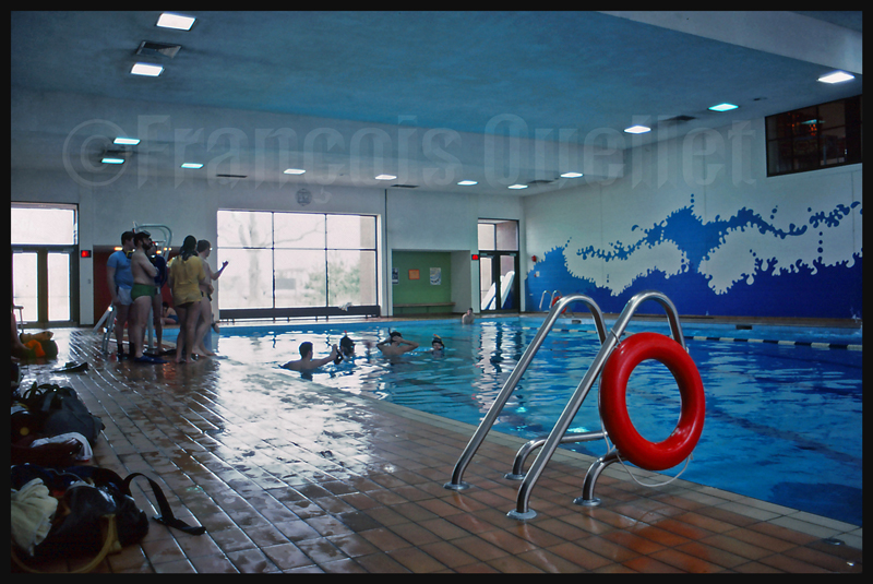 La piscine de l'Institut de formation de Transports Canada à Cornwall, en 1982.
