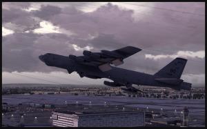 Boeing B-52 (FSX) au décollage de Montréal Pierre-Elliott-Trudeau Intl vers Anchorage, Alaska