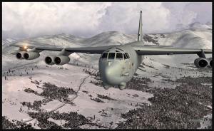 Boeing B-52 en rapprochement pour Anchorage, Alaska (FSX)