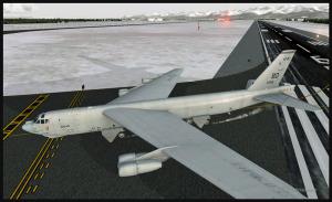 Boeing B-52 quitte la piste à Anchorage (FSX)