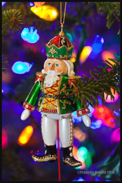 Décoration dans un sapin de Noël de Québec
