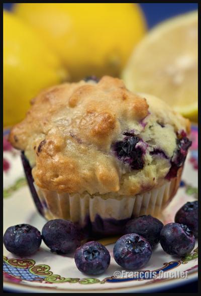 Muffins aux bleuets et citrons