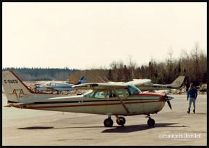 Avion Cessna C172 C-GUCU à Rouyn-Noranda vers 1986