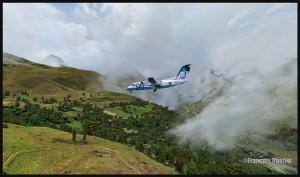 Un avion de la Sat Airlines est en finale pour l'altiport Peyresourde Balestas