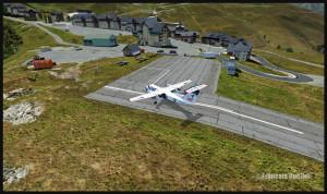 Sat Airlines Sakhalin Energy et l'altiport de Peyresourde (fsx)