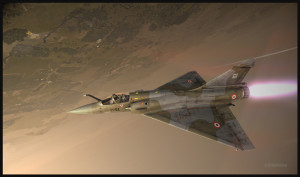 Mirage 2000C de Metal2Mesh en test en vol au-dessus de l'Afghanistan