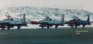 Trois T-33 du Canada à Iqaluit en 1990