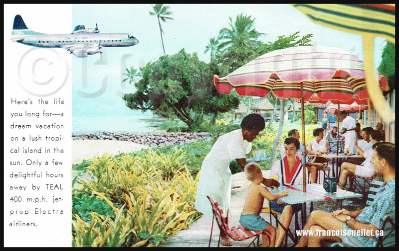 Teal Airlines and Fiji sur carte postale aviation