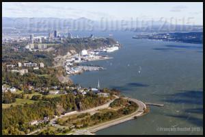 Promenade de Champlain et fleuve St-Laurent en 2015
