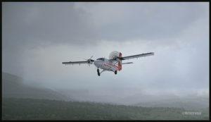 Un DHC-6 Twin Otter virtuel en route pour Kokoda après un feu sur le moteur droit au départ de Yongai (KGH) en Papouasie Nouvelle-Guinée PNG (FSX)