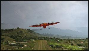 Un De Havilland DHC-7 virtuel au décollage de Woitape (WTP), Papouasie Nouvelle-Guinée, (FSX)