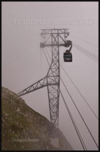 Téléphérique du Moléson, dans la région de Gruyères, Suisse 2013