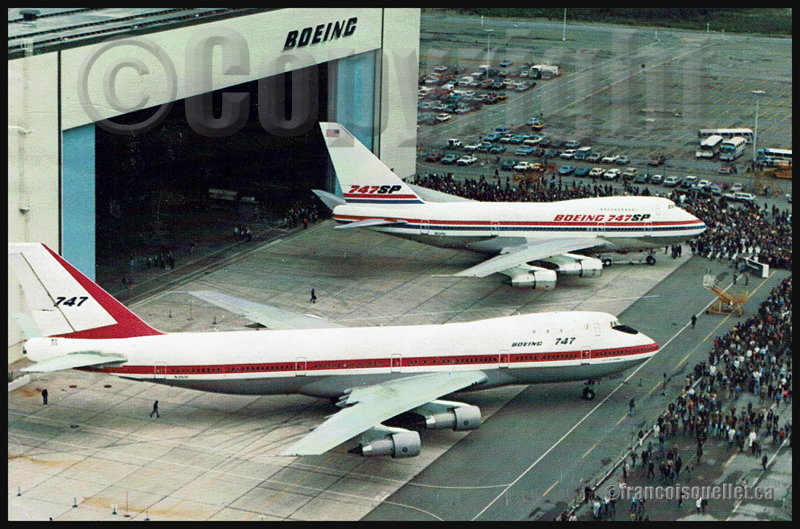 Boeing 747 et 747SP sur carte postale aviation